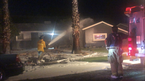 Active night for Fresno Fire Department as suspected fireworks cause fires
