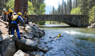 Get close and down in dangerous water with Yosemite Search and Rescue team