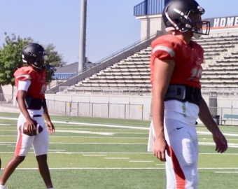 Central High football coach Kyle Biggs is excited about his new quarterbacks