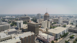 Drone video captures poor air quality over Fresno