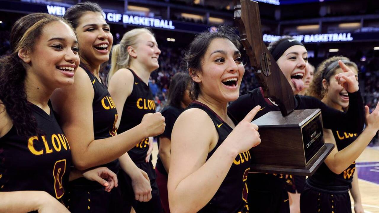 Long time coming: Clovis West girls win first state basketball title