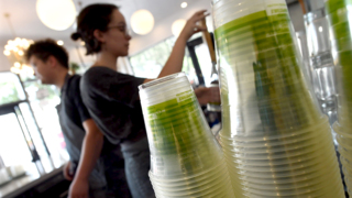 The Revue goes compostable with its cups, lids and straws