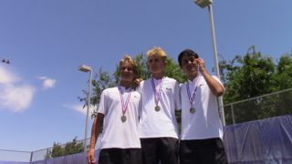 Watch how Clovis North finishes another boys tennis sweep