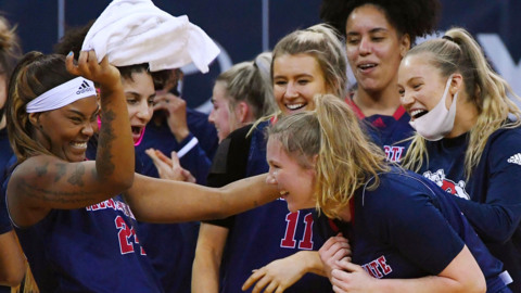 Women's Bulldogs top Boise 92-57 in first of 2-game series