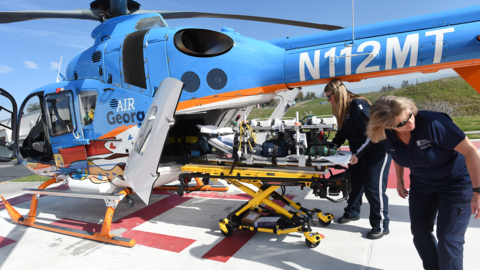 Air George provides emergency airlift support for kids in time of need