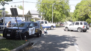 Merced police officer suffers minor injuries in crash