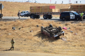 Man and woman thrown from rollover crash on Highway 99 in Merced County
