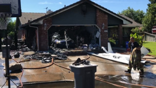Fire causes garage roof to collapse in Merced, chief says