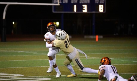 Buhach Colony defense comes up with big sack late to hold off Merced's upset bid.