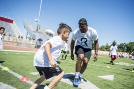 Randle hosts Achieve Dreams Youth Football Camp