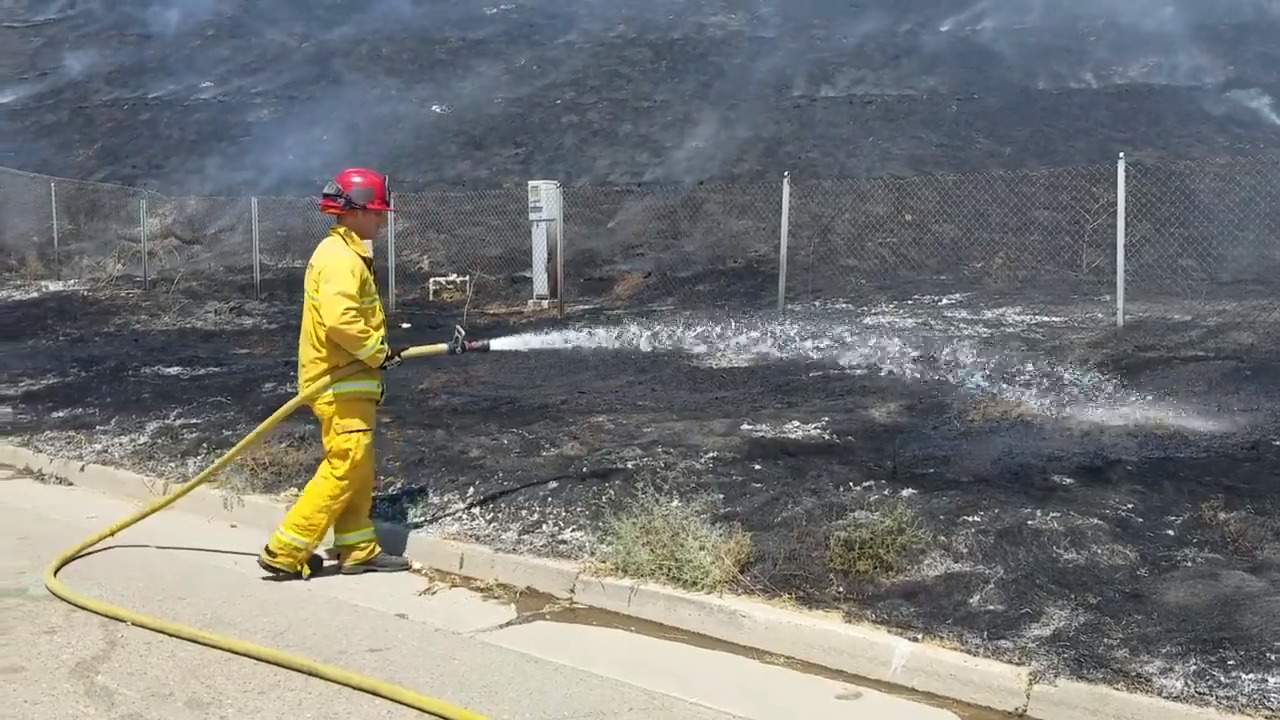 Firefighters investigating series of suspicious grass fires in south Merced