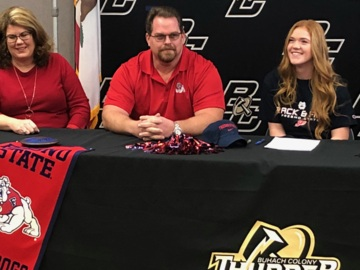 'I get to rep the Bulldogs this season.' Buhach Colony standout makes college choice.