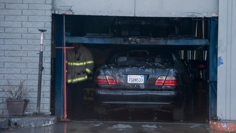 Video: Vehicle fire damages Merced auto repair business