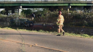 Car careens off Highway 99, overturns into fence in Merced, CHP says