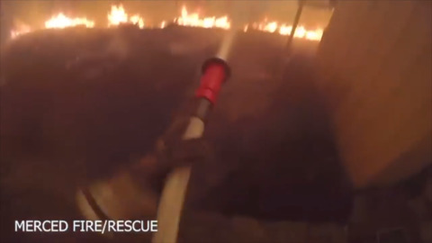 Dramatic montage video shows Merced crews dangerously close to Creek Fire