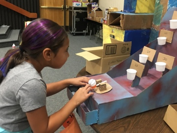 How these Reyes Elementary students turned cardboard into an arcade.