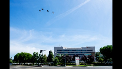Did you see it? Fighter jets perform Merced flyover salute to healthcare, frontline workers