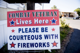 Veterans hope signs lead to respectful firework use on the Fourth of July