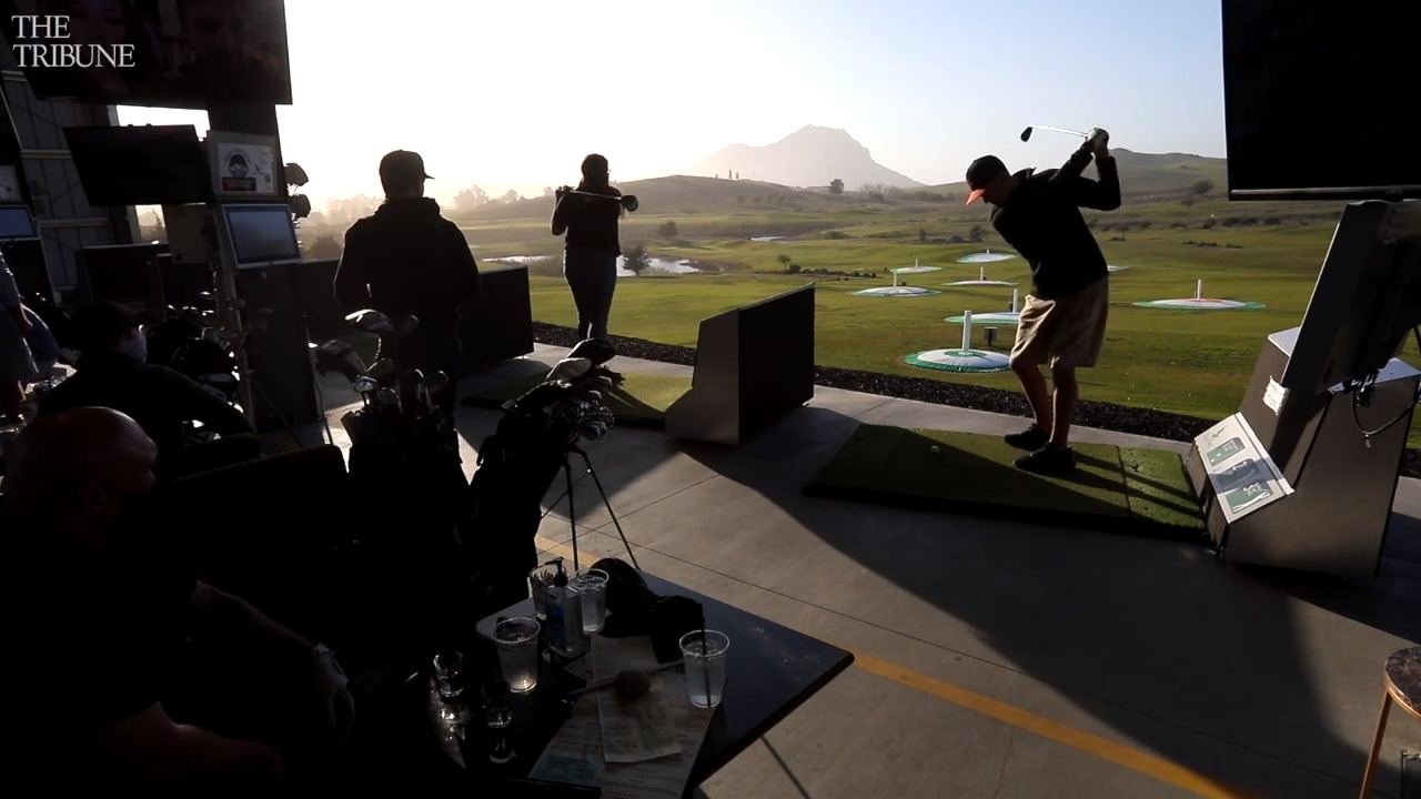 Want to play virtual golf on a real driving range? Try Dairy Creek's new attraction