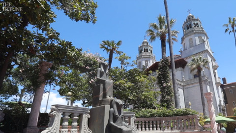 Hearst Castle's new curator got his start hanging holiday decorations there