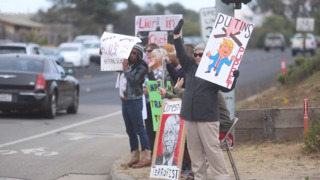 This protest of President Trump has been going on for 18 months in Los Osos