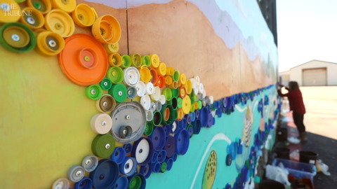 This SLO County beach town is getting a massive new mural — made out of plastic lids