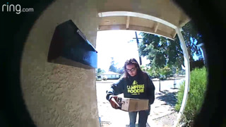 Package thief caught on camera outside San Luis Obispo home