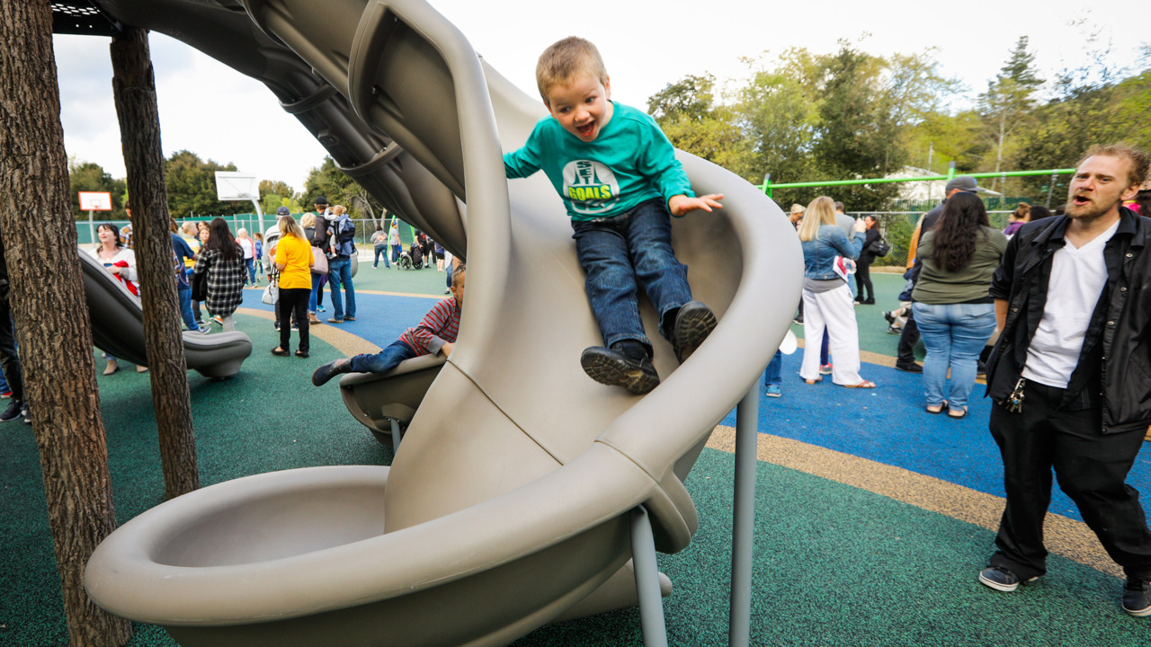 'First of its kind': $1.2 million playground for kids with disabilities opens in Atascadero