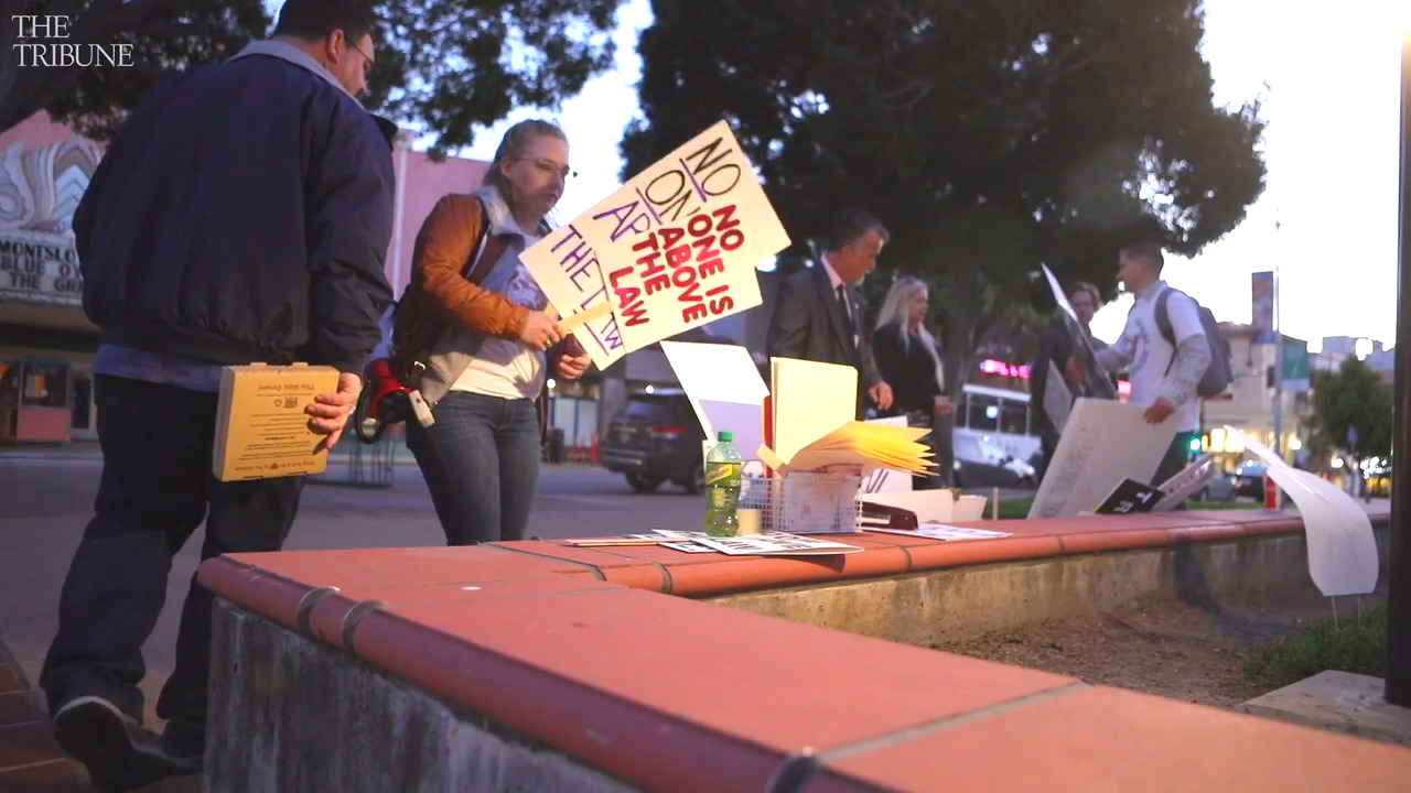 SLO residents protest police, demand transparency after arrests and dog shooting