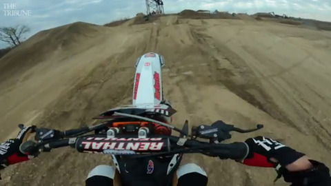Up-close action, interview: California native designs course, wins motorcross event