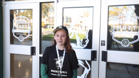 A 12-year-old Grover Beach girl celebrated Draft Day with the Cal Poly Women's team