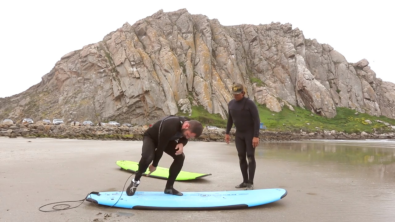 'On point': Wounded vet tests prosthetic ankle designed by Cal Poly students for surfing