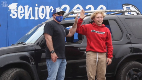 166 Morro Bay graduates get a drive-through sendoff, but official ceremony in August