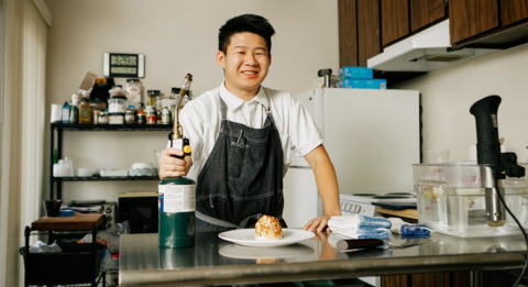 This Cal Poly student runs a restaurant out of his apartment. Now he's writing a cookbook