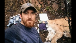 Drugged mountain lion gives California Fish & Wildlife researcher a big surprise