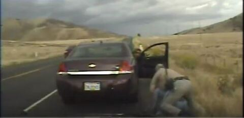 CHP officer Doug Patterson's pen video showing altercation with Monsuru Sho