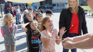 Branch Elementary School students get up-close look at weather balloon