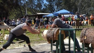 Watch Cal Poly's logging champ outmuscle the competition