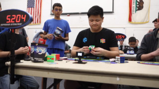 Fast-flying Rubik's Cube Competition in Nipomo
