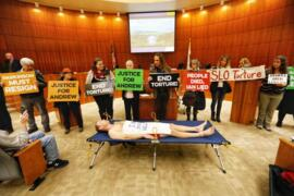 Jail death protesters burst into SLO County supervisors meeting