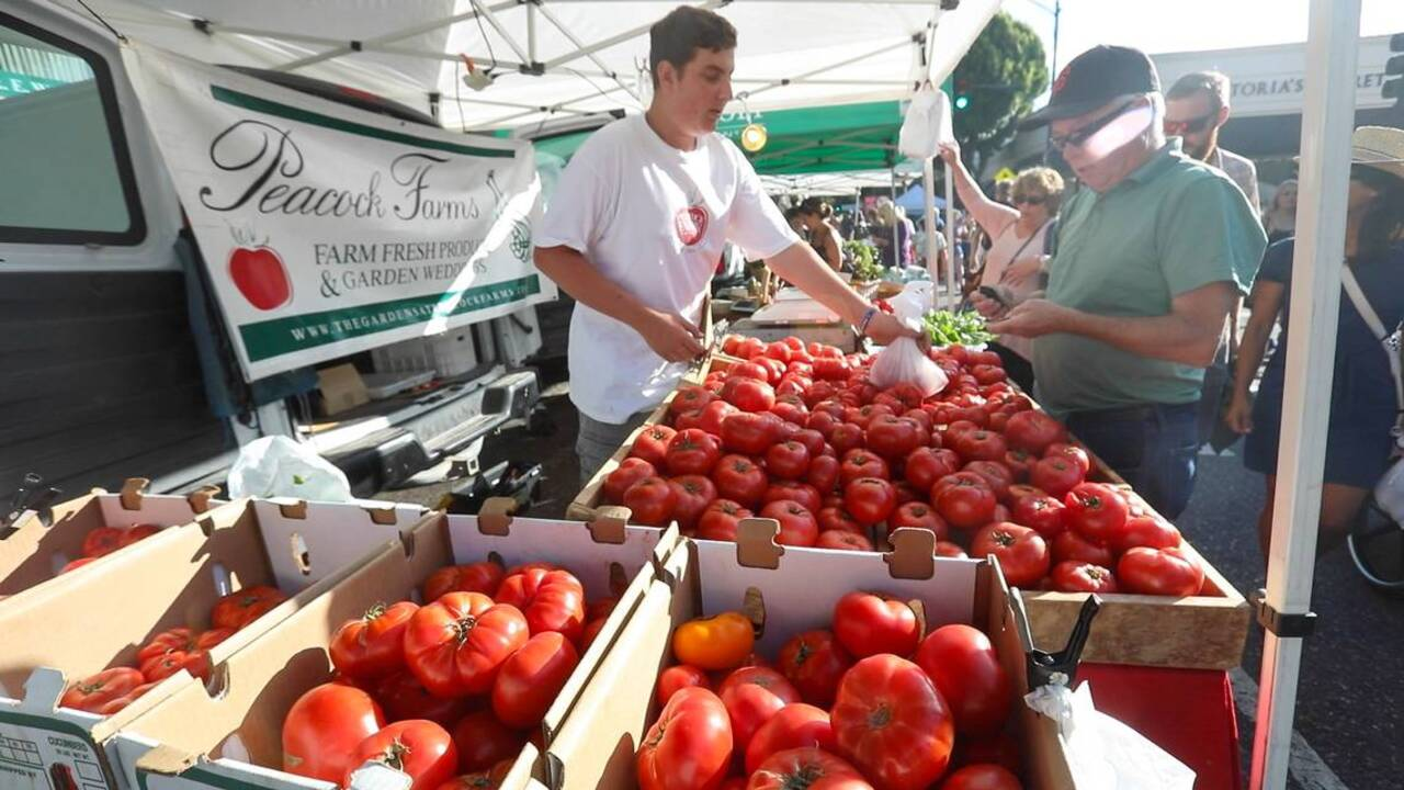 This map shows all of SLO County's farmers markets