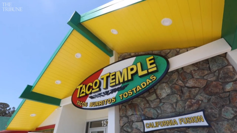 Taco Temple is open in SLO. See its first few minutes in business.