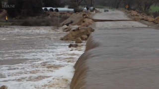 The mighty Salinas River takes out Halcon Road in Atascadero