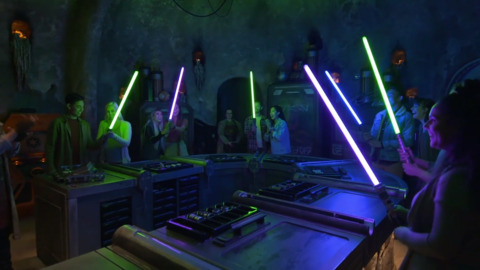 Watch visitors to Star Wars: Galaxy's Edge build their own lightsabers