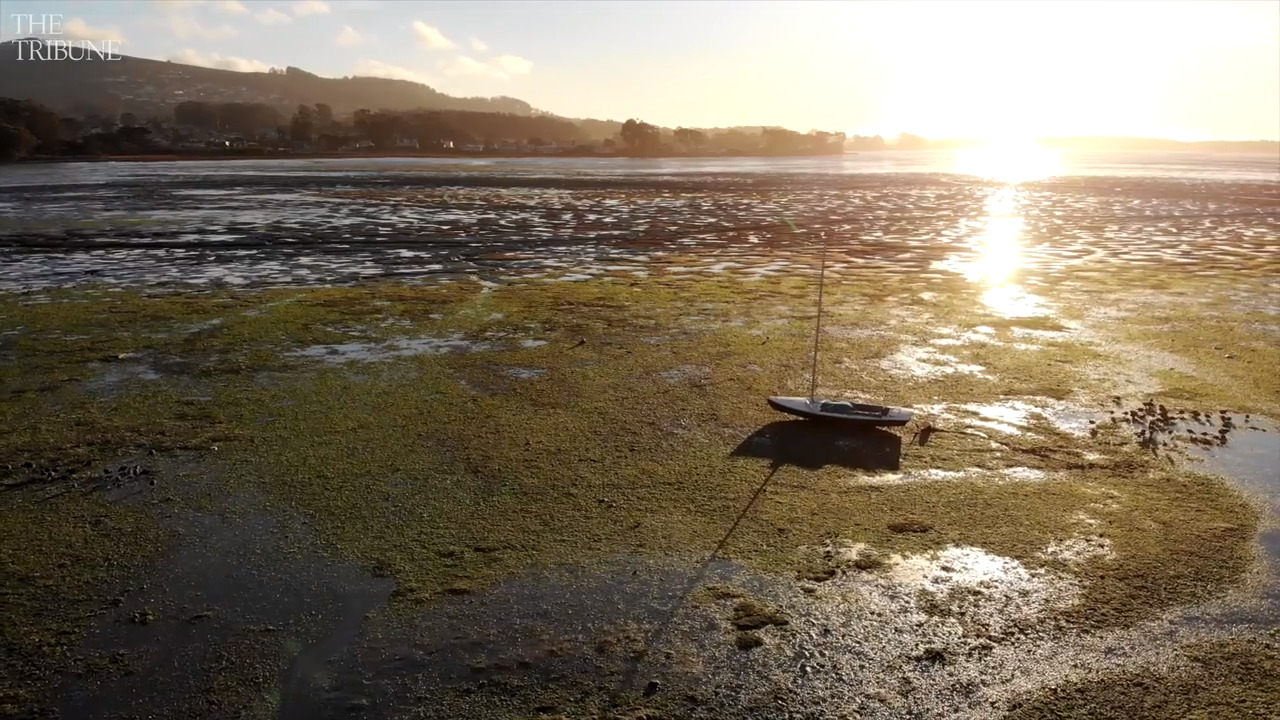 Glide over Morro Bay King Tides in this drone video