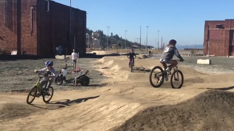 Waterfront's new dirt pump track is in a 'holding pattern for a good weather window'