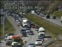 Did you get stuck in this Interstate 5 backup?