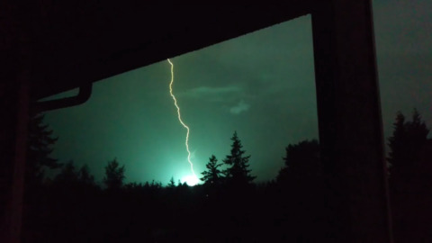 'The electrical storm was one of the better ones I've seen,' and here was its impact