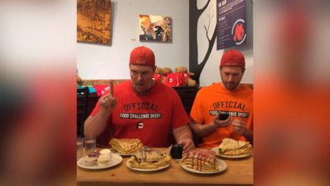 26 crepes, 19 minutes and 22 seconds — YouTube pro eaters devour Bellingham record