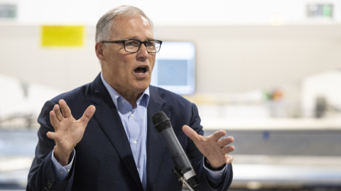 Washington governor stops in Bellingham to show why his green policies can succeed
